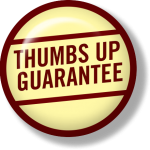 Thumbs up guarantee